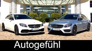 getlinkyoutube.com-Mercedes C450 AMG 4MATIC vs Mercedes-AMG C63 exterior comparison 2016 all-new