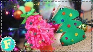 getlinkyoutube.com-Mini Arbolitos de Navidad 2 Ideas MUY FACIL