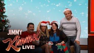 getlinkyoutube.com-Jennifer Aniston Poses For Fan's Holiday Card