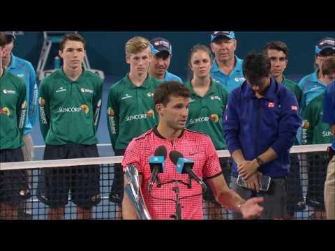 Grigor Dimitrov Men`s Singles Presentation | Brisbane International 2017