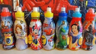 getlinkyoutube.com-Surprise Drink: Marvel Avengers & Disney Cars - Sofia - Minnie - Good Dinosaur Juguetes