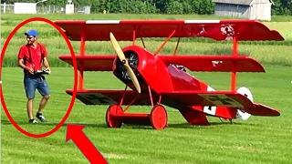 getlinkyoutube.com-Giant XXL RC TRIPLANE // Giant Fokker Dr. 1 [HD]
