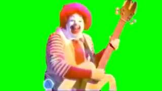getlinkyoutube.com-YTPMV/MAD Source; Ronald McDonald Playing the Guitar and Drums in Green/Blue Screen
