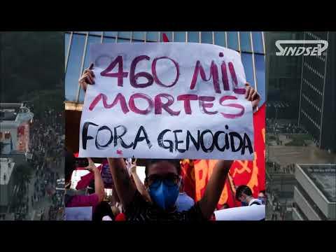 Faixaço do Sindsep na luta contra a reforma administrativa, por auxílio emergencial, vacina para todos/as e fora Bolsonaro