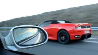 getlinkyoutube.com-SL 55 AMG vs Ferrari F430 !!