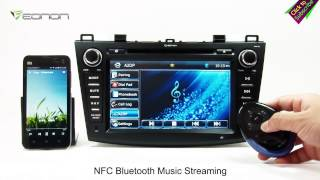 getlinkyoutube.com-Eonon GM5163 New Mazda 3 Car DVD GPS with Screen Mirroring & Dual CAN BUS & & NFC URC(Exclusive)