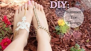 getlinkyoutube.com-DIY: ☀ Summer Toe Thongs {Lace & Macramé}