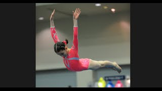 getlinkyoutube.com-Annie the Gymnast | Level 7 Gymnastics Meet 7 | Acroanna