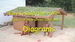 Flat Roof Dog House Plans   YouTube