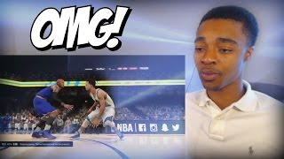 getlinkyoutube.com-HE FELL 3 TIMES!! TOP 10 NBA 2K16 Crossovers & Ankle Breakers Of The Year REACTION!