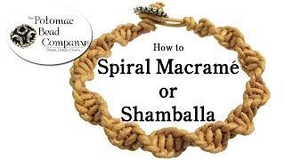 getlinkyoutube.com-How to Spiral Macrame (Shamballa) Bracelet