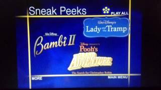 Sneak Peeks Menu from Walt Disney's Funny Factory Donald Volume 2 2006 DVD