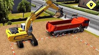 เกมส์ รถแม็คโคร ตักดิน ใส่รถบรรทุกไปดั้ม เกมส์ Construction 2014 วีดีโอสำหรับเด็ก
