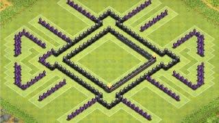 getlinkyoutube.com-Clash of Clans | TH8 Clanwar Base (Anti Dragon)