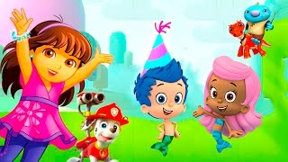 getlinkyoutube.com-Dora, Bubble Guppies, Wallykazam, Paw Patrol - Party Racers