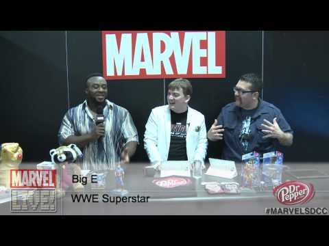 WWE Superstar Big E Versus Wolverine at Comic-Con 2014