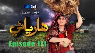 Sindh TV Soap Serial HARYANI EP 111   23 10 2017   HD1080p  SindhTVHD