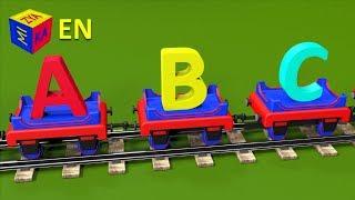 getlinkyoutube.com-ABC song for baby kindergarten children. Learn alphabet with Choo-Choo the Train