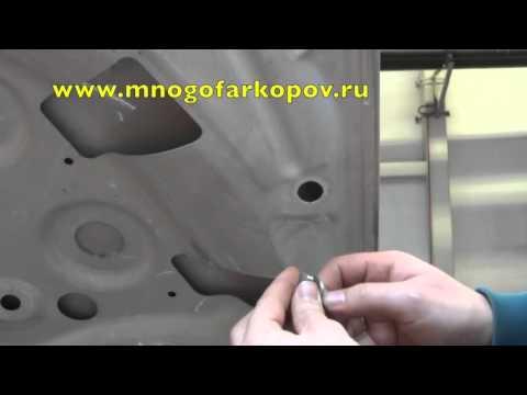Амортизатор (упор) капота на Mercedes-Benz B KU-MB-B000-02 (обзор,установка)