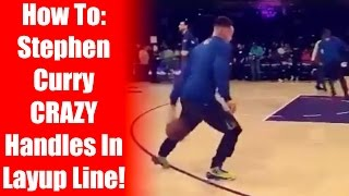 getlinkyoutube.com-How To: Stephen Curry Crazy Handles In Layup Line -  Slow Motion Breakdown