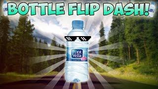 getlinkyoutube.com-¡WATER BOTTLE FLIP CHALLENGE! EN GEOMETRY DASH | VRO