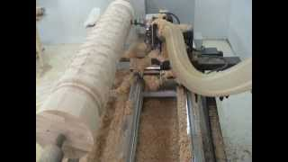 getlinkyoutube.com-TORMAT.5000 CNC WOOD LATHE FOR WOODEN COLUMNS CLIP 1.wmv