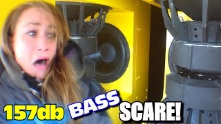 getlinkyoutube.com-Horrified Sister BASS DEMO w/ EXO's 157db Subwoofer Sound System | Scaring Danyel w/ LOUD CAR AUDIO