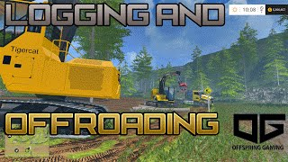 getlinkyoutube.com-Farming Simulator 2015- Logging and Offroading in the Trails P1