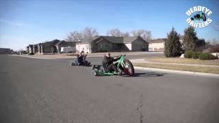 getlinkyoutube.com-Motorized Big Wheel Drift Trike - Deadeye Drifters