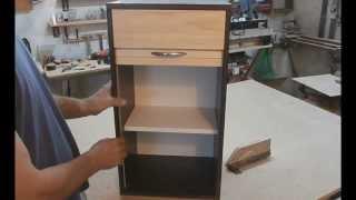 getlinkyoutube.com-Мой фрезерный стол. Часть 4. Шарнирное соединение. Wooden roll up door make on router table.