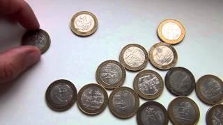 """getlinkyoutube.com-(ч.10) """"10 рублевые монеты России"""""""