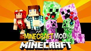 getlinkyoutube.com-Minecraft: Creeper Namorada ( Creeper Mulher, Bebês Creepers) !! - Female Creepers Mod