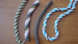 getlinkyoutube.com-Tutorial spirale crochet con perline - Come fare una spirale di perline con l'uncinetto
