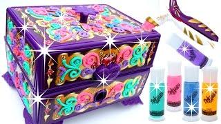 getlinkyoutube.com-DIY How To Make Dohvinci Play Doh Sparkle Jewelry Secret Glitter Dohvinci - Mighty Toys