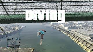 getlinkyoutube.com-GTA 5 - Diving into Water