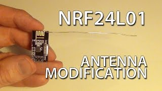 getlinkyoutube.com-Cheap DIY NRF24L01 Antenna Modification
