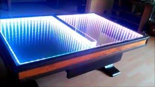 getlinkyoutube.com-Miroir infini  sur table basse 'fait maison', self made infinity mirror on coffee table, 133 effects