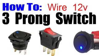 getlinkyoutube.com-HOW TO WIRE 3 PRONG ROCKER LED SWITCH