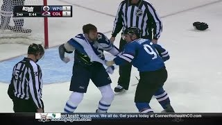 Andrew Ladd vs Gabriel Landeskog Dec 11, 2014