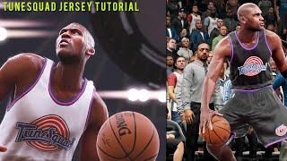 "getlinkyoutube.com-NBA 2K16 Tutorial - How To Create ""Space Jam"" Tune Squad Court & Jerseys | MyGm, MyLeague, Pro-AM"