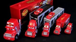 getlinkyoutube.com-Mack Semi Truck CARS 2 Deluxe Edition 2013 Rust-eze Racing Mattel Pixar trucks review Caminhões