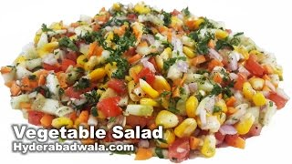 getlinkyoutube.com-Healthy Vegetable Salad Recipe Video - How to Make Healthy Vegetable Salad at Home - Easy & Simple