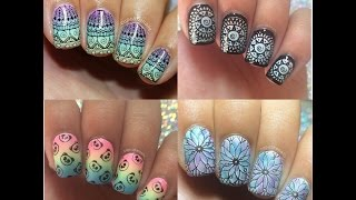 Stamping Nail Art Tutorial and Designs December 2016