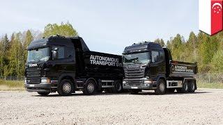 getlinkyoutube.com-Singapore self-driving trucks to be tested along 10 km of West Coast Highway - TomoNews