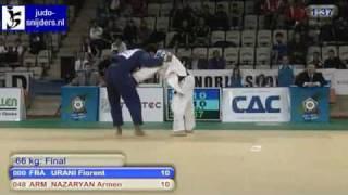 getlinkyoutube.com-Judo 2010 World Cup Prague: Florent Urani (FRA) - Armen Nazaryan (ARM) [-66kg] final
