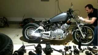 getlinkyoutube.com-82 virago cafe racer build timelaps break down part 1