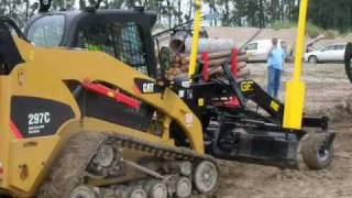 getlinkyoutube.com-CTL Caterpillar 297C with GF Gordini LG 270 P grader and laser levelling system