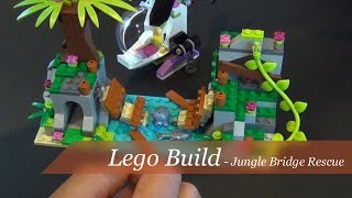 getlinkyoutube.com-Lego Friends Jungle Bridge Rescue Set #41036 - Unboxing and Build