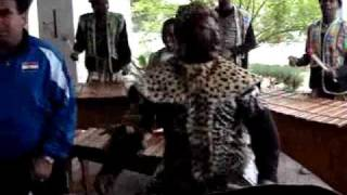 getlinkyoutube.com-تصوير فيديو لاعبي العراق يرقصون مع فرقة افريقية