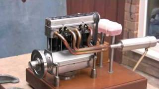 getlinkyoutube.com-Model 4 cylinder engine